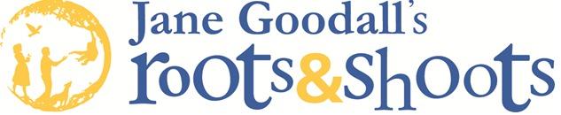 Jane Goodall Roots en Shoots logo